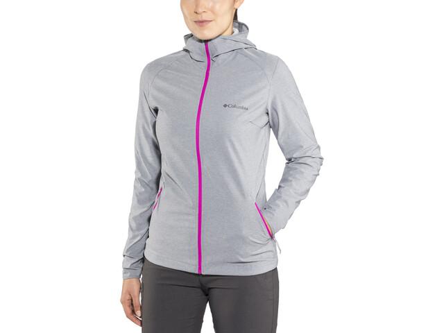 Columbia Heather Canyon Softshell Jacket Women grey ash heather